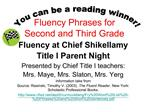 Fluency Phrases for Second and Third Grade
