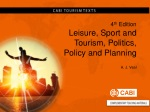 4 t h Edition Leisure, Sport and Tourism, Politics, Policy and Planning