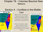 Chapter 18 Colonies Become New Nations Section 4 Conflicts in the Middle East