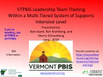 VTPBIS Leadership Team Training Within a Multi-Tiered System of Supports Intensive Level