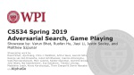 CS534 Spring 2019 Adversarial Search, Game Playing