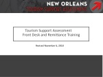 Tourism Support Assessment Front Desk and Remittance Training