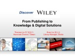 From Publishing to Knowledge & Digital Solutions