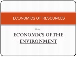 ECONOMICS OF RESOURCES