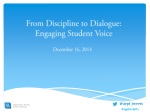 From Discipline to Dialogue: Engaging Student Voice