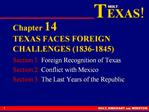 Chapter 14 TEXAS FACES FOREIGN CHALLENGES 1836-1845