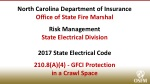 North Carolina Department of Insurance Office of State Fire Marshal Risk Management