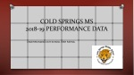 COLD SPRINGS MS 2018-19 PERFORMANCE DATA