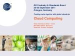 Cloud Computing Time of Session: 09:00 – 10:45 Who May Attend: Everyone Speakers: Anders Grangard
