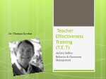 Teacher Effectiveness Training (T.E.T)