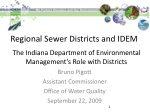 Regional Sewer Districts and IDEM