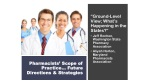 Pharmacists' Scope of Practice… Future Directions & Strategies