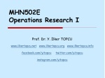 MHN502E Operations Research I