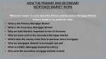 HOW THE PRIMARY AND SECONDARY MORTGAGE MARKET WORK