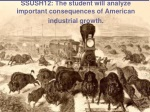 SSUSH12: The student will analyze important consequences of American industrial growth.