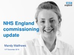 NHS England commissioning update