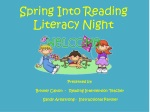 Spring Into Reading Literacy Night