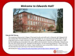 Welcome to Edwards Hall!