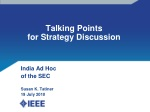 Talking Points for Strategy Discussion