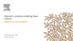 Elsevier's solutions enabling Open science