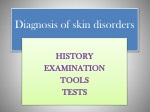 Diagnosis of skin disorders