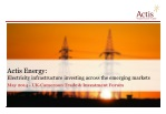 Actis Energy: Electricity infrastructure investing across the emerging markets