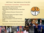 4UMF Present– Today Headlines as on 15 July 2013