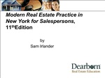 Modern Real Estate Practice in New York for Salespersons, 11th Edition