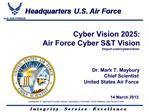 Cyber Vision 2025: Air Force Cyber ST Vision