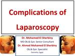Complications of Laparoscopy