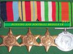 Choose Football and Running Medals from Online Merchandise