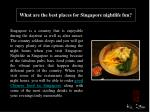 What are the best places for Singapore nightlife fun?