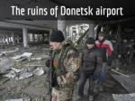 The ruins of Donetsk airport