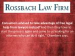 Get Legal Solution from Ross Bach Law Firm