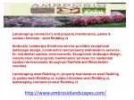Landscaping contractor's and property maintenance, patios &