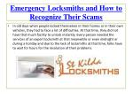 Emergency Locksmiths and How to Recognize Their Scams