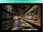 Importance Of Restaurant Fitouts