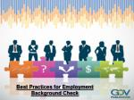 Best Practices for Employment background check