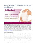 Breast Asymmetry Overview: Things you should know