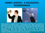 HARRY JODOIN - A SUCCESSFUL BUSINESSMAN