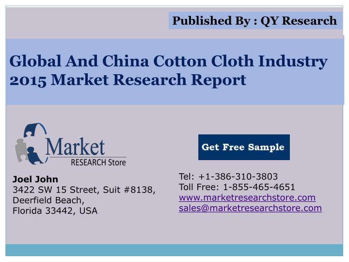 global and china cotton cloth industry 2015 market research report n.