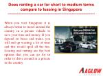 Does renting a car for short to medium terms compare to leas