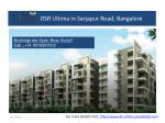 2, 3 BHK Flats at DSR Ultima in Sarjapur Road, Bangalore