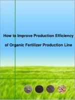How to Improve Production Efficiency of Organic Fertilizer P
