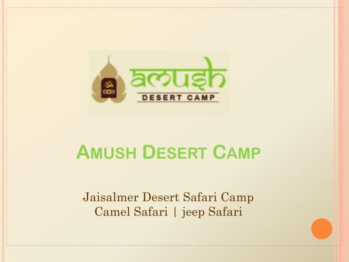 amush desert camp n.