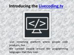 Live Coding Streaming Schedule