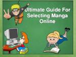 Ultimate guide for selecting Manga Online