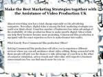 Video Production Companies UK