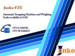 Automatic Strapping Machines and Weighing Scales available i