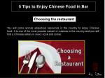 5 Tips to Enjoy Chinese Food in Bar